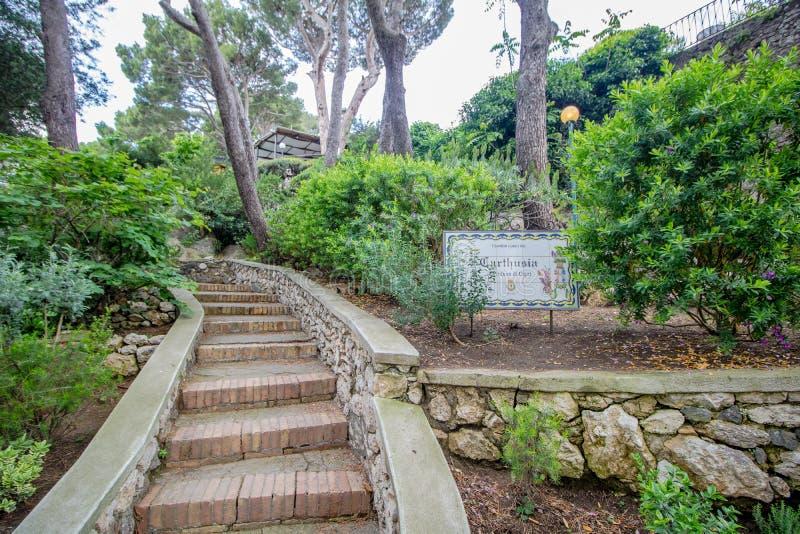 Os jardins pitorescos em Capri, It?lia de Augustus fotografia de stock royalty free