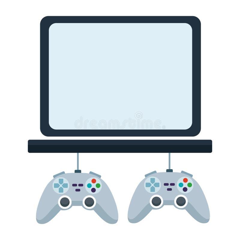 Os jogos de vídeo jogam desenhos animados do console ilustração stock