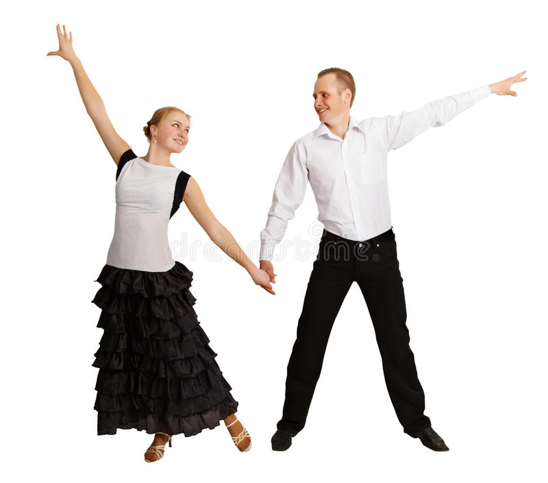 Os jovens executam a dança de salão de baile imagem de stock