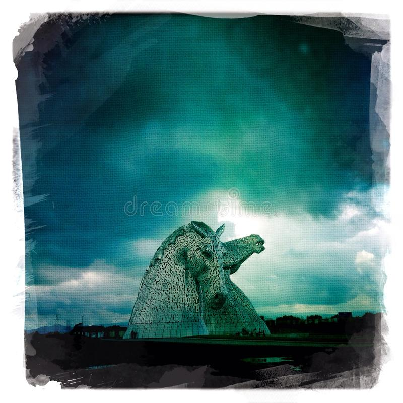 Os Kelpies foto de stock