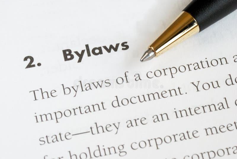 Os leis internos de um corporation foto de stock