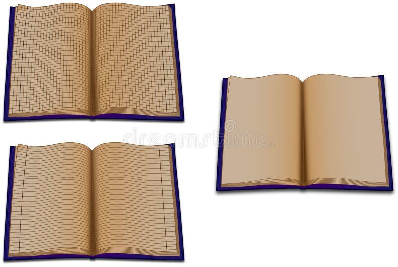 Os livros ordenados ilustração stock