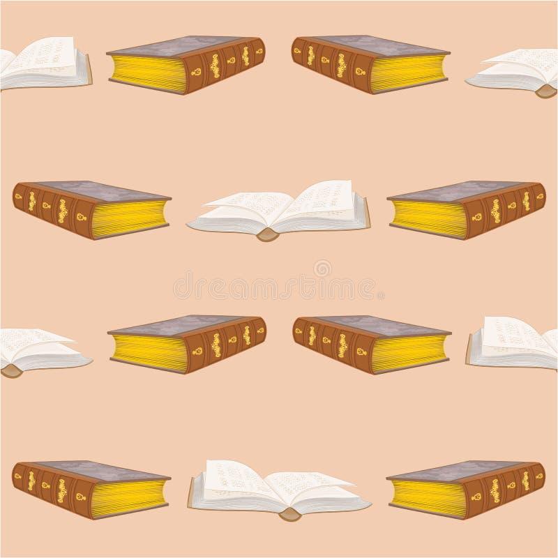 Os livros velhos da textura sem emenda limitam o vetor do vintage ilustração stock