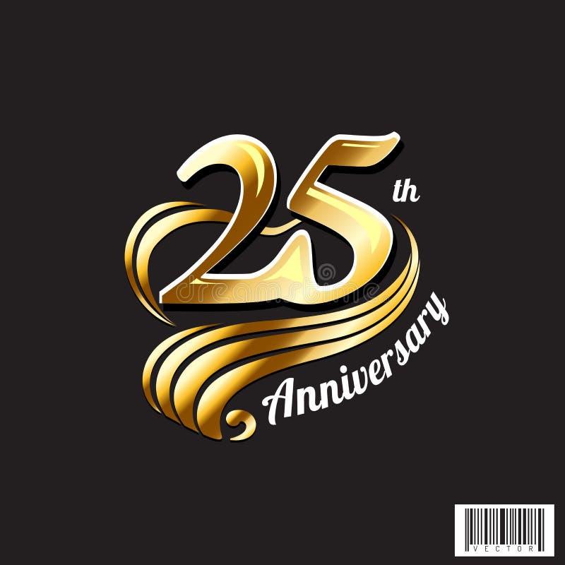 25os logotipo do aniversário e projeto do símbolo imagem de stock royalty free