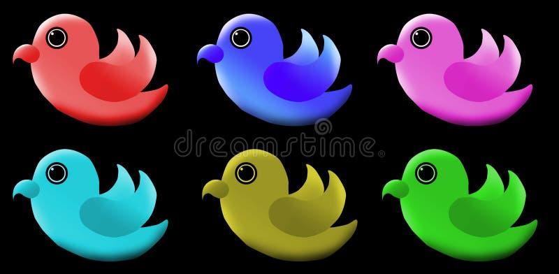 Logotipo bonito do pássaro ilustração do vetor