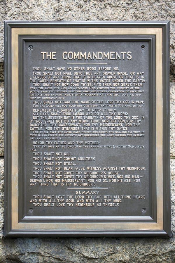 Dez Mandamentos Do Deus De Moses E De Abraham Foto de