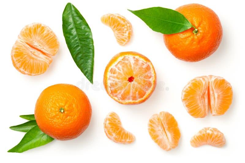 Os mandarino isolados no fundo branco fotografia de stock royalty free