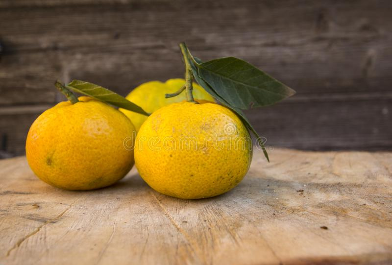 os mandarino saborosos alaranjados imagens de stock royalty free