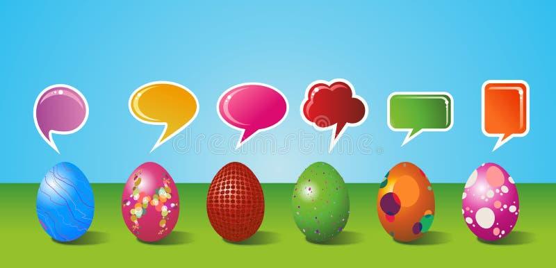 Os media sociais pintaram o jogo do ovo de Easter ilustração do vetor
