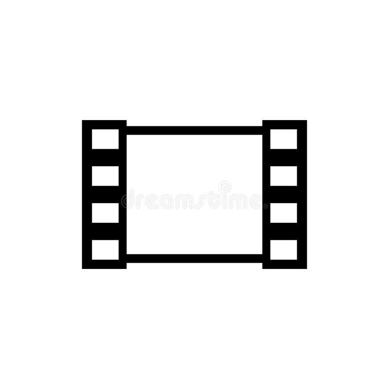 Os meios filmam o ícone liso do vetor ilustração stock