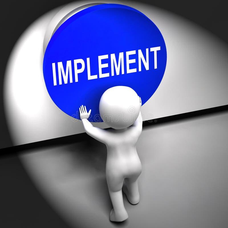 Os meios pressionados implementar aplicam-se ou execução ilustração do vetor