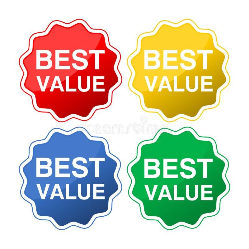 Os melhores ícones do valor ilustração stock