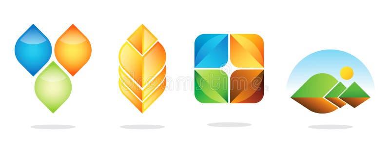 Os melhores projetos do logotipo ilustração stock