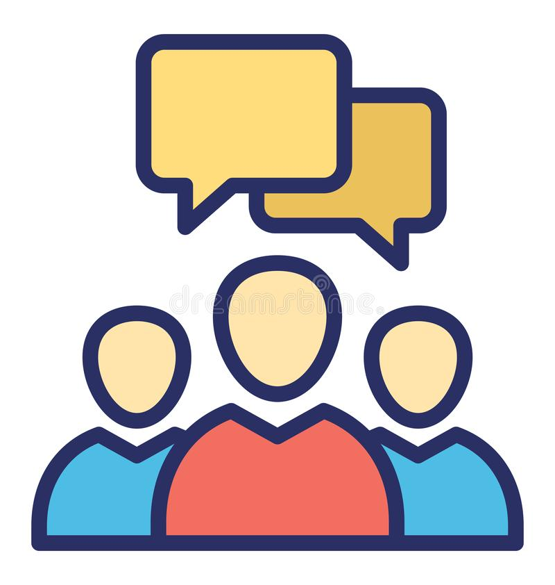 Os membros de conversa isolaram o ícone do vetor que pode facilmente alterar ou editar ilustração do vetor