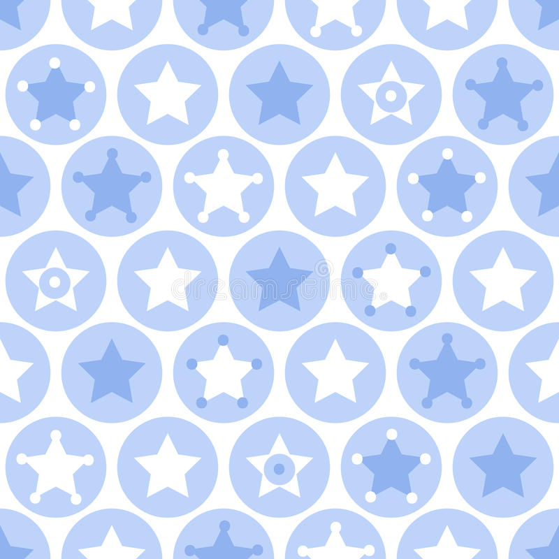 Os meninos geométricos caçoam círculos e o teste padrão sem emenda das estrelas no branco ilustração stock