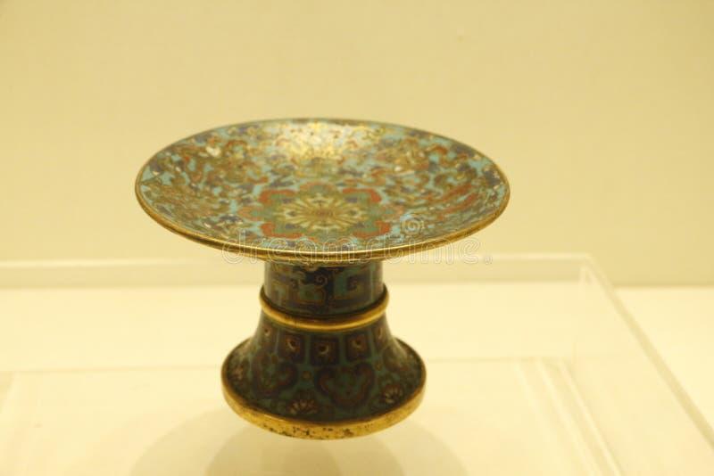 Os mercadorias de bronze no museu do palácio de Shenyang, China imagens de stock