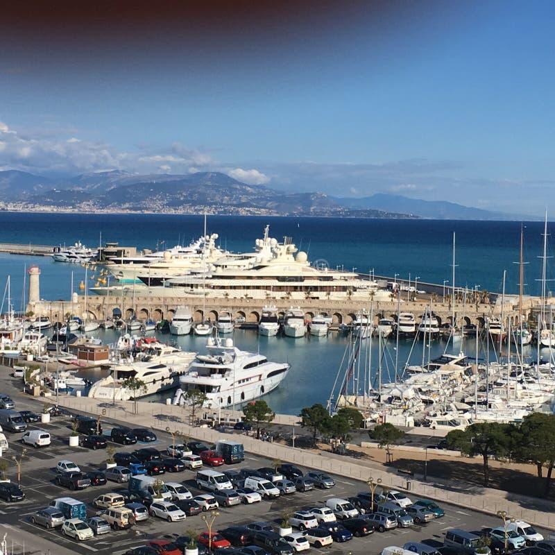 Os milionários enfileiram, Antibes, França fotografia de stock