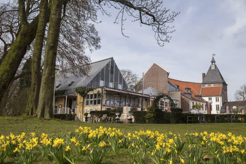 Os moers históricos Alemanha do castelo foto de stock