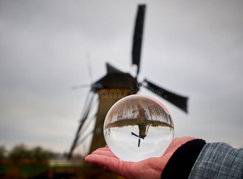Os moinhos de vento de Kinderdijk, Países Baixos foto de stock