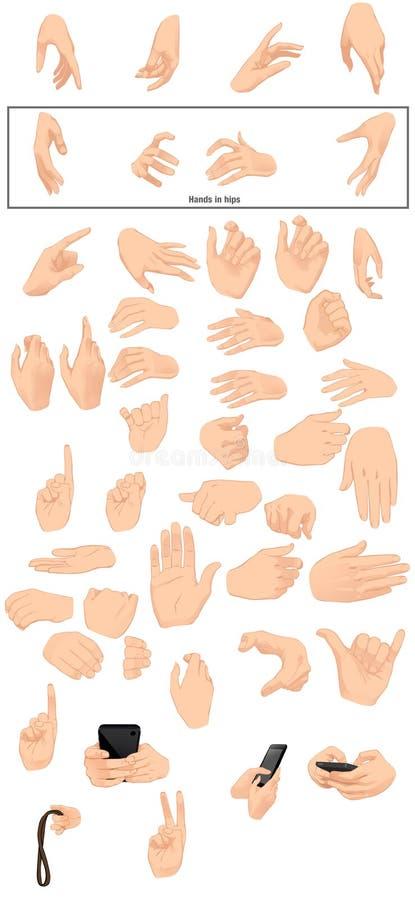 Os moldes da mão incluem a posse do celphone fotografia de stock