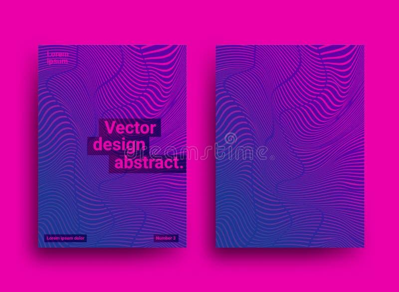 Os moldes projetam com fundo abstrato e cores vibrantes na moda Fundo abstrato do vetor ilustração do vetor