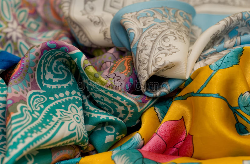 Os neckerchiefs multicoloured fotos de stock royalty free