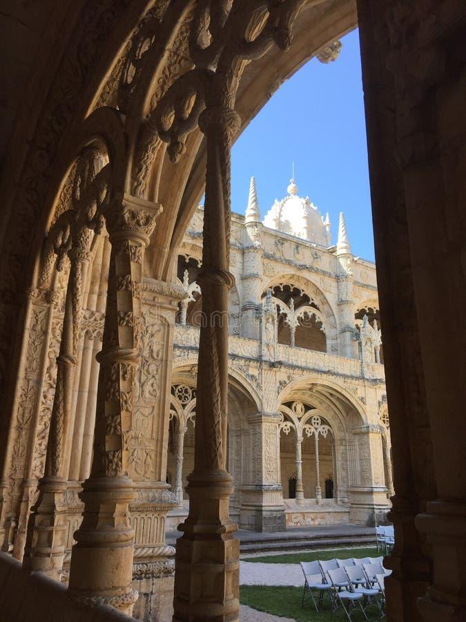 Os nimos do ³ do dos Jerà de Mosteiro do monastério dos nimos do ³ de Jerà ou do monastério de Hieronymites fotografia de stock