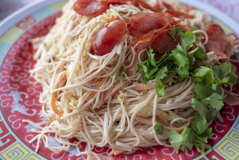 Os Noodles Fried imagens de stock royalty free