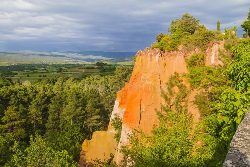 Os ocre de Roussillon foto de stock