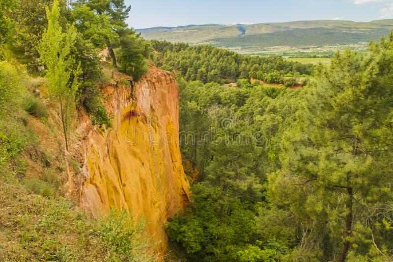 Os ocre de Roussillon imagens de stock