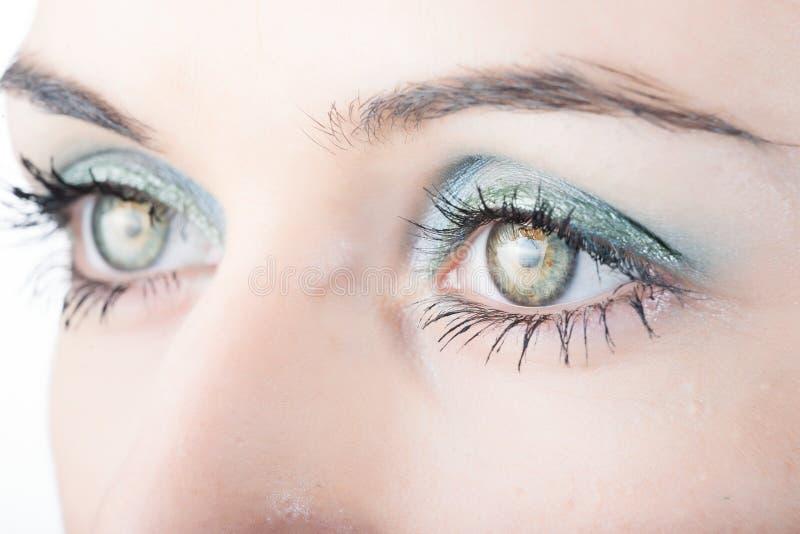 Os olhos da mulher bonita imagens de stock royalty free
