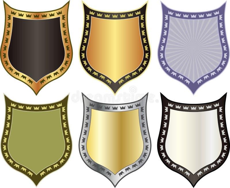 Download Osłona z koronami ilustracja wektor. Obraz złożonej z odosobniony - 27325377