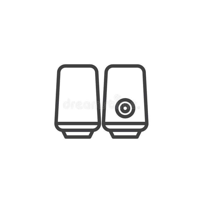 Os oradores Desktop alinham o ícone ilustração royalty free