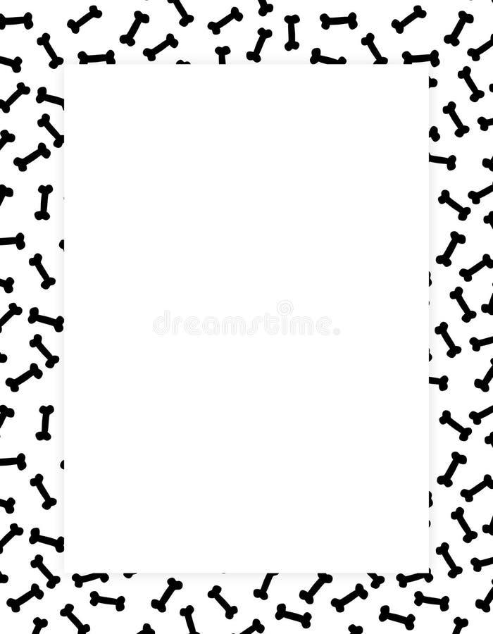 Os ossos limitam/frames ilustração do vetor