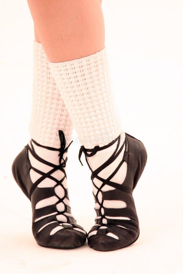 Os pés do irish dançam sapatas imagens de stock royalty free