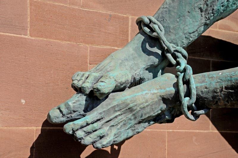 Os pés dos diabos, Coventry imagens de stock royalty free
