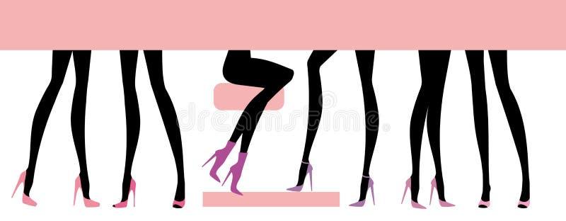 Os pés fêmeas ajustaram-se ilustração stock
