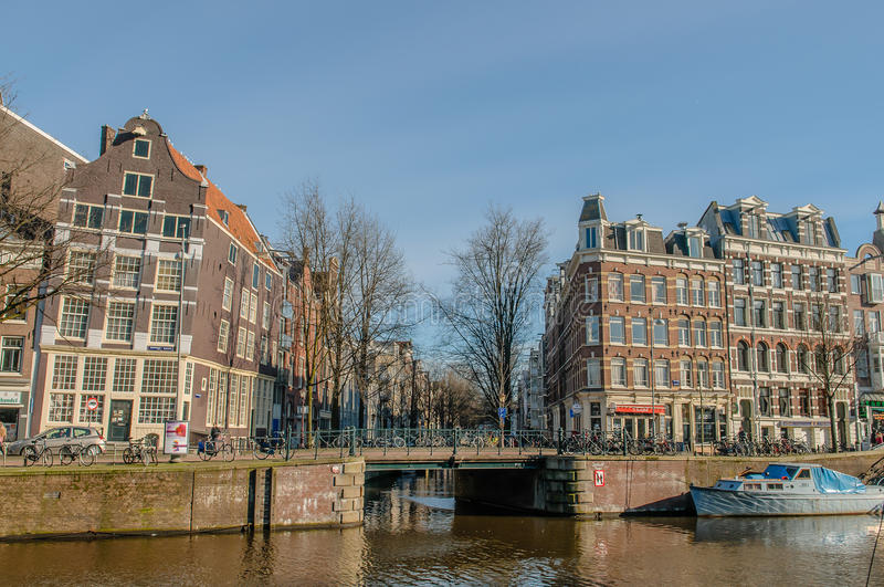 Os Países Baixos - a Amsterdão foto de stock