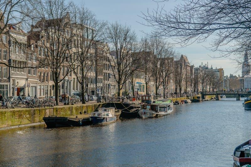 Os Países Baixos - a Amsterdão imagem de stock