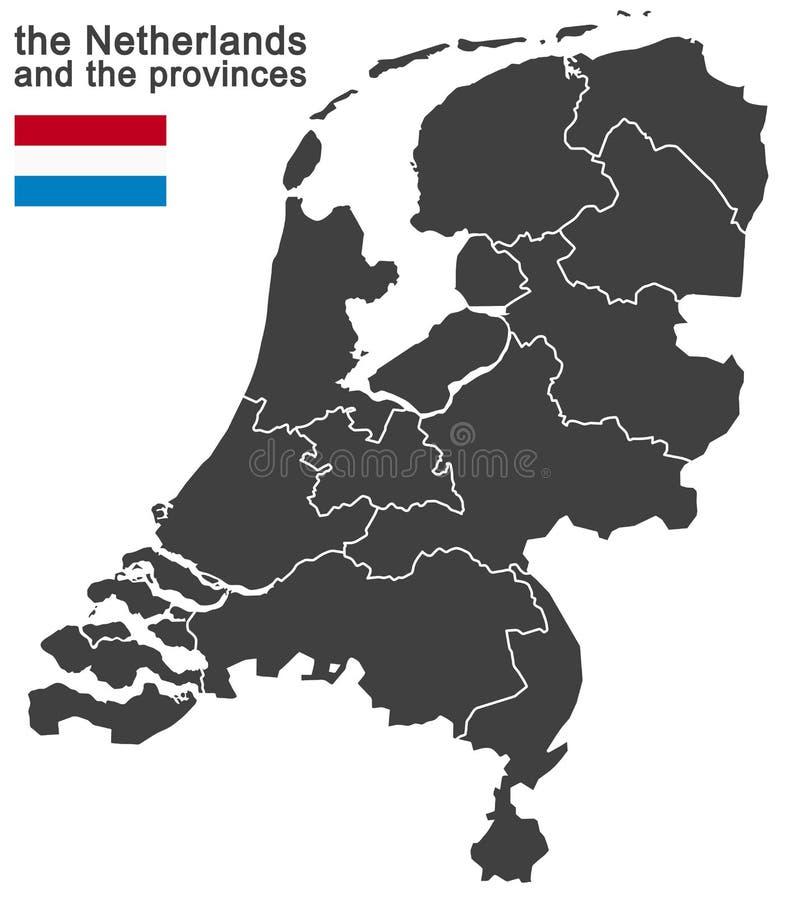 os Países Baixos e as províncias ilustração stock