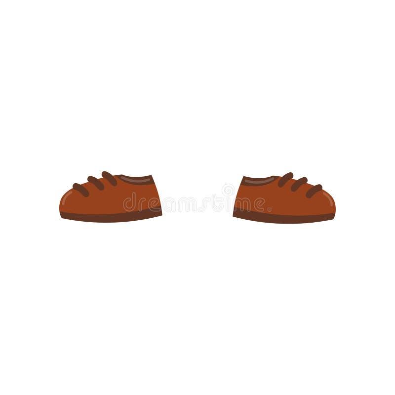 Os pares de sapatas marrons vector a ilustração em um fundo branco ilustração stock