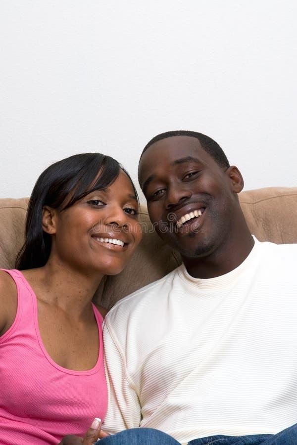 Os pares do americano africano fecham-se acima fotos de stock