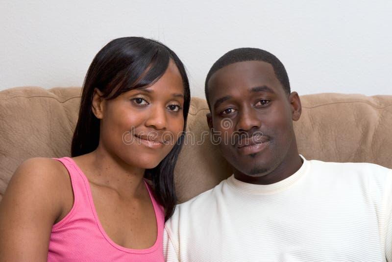 Os pares do americano africano fecham-se acima imagens de stock royalty free