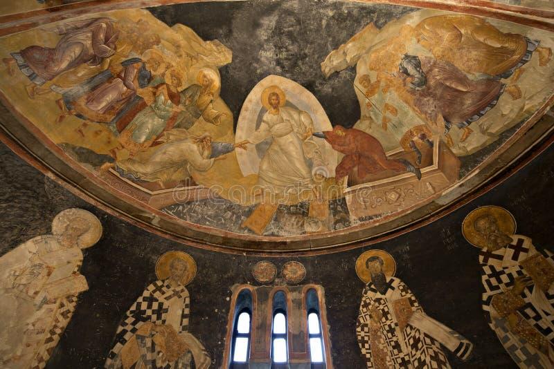 Os patriarcas e os bishops da parede do apse foto de stock royalty free