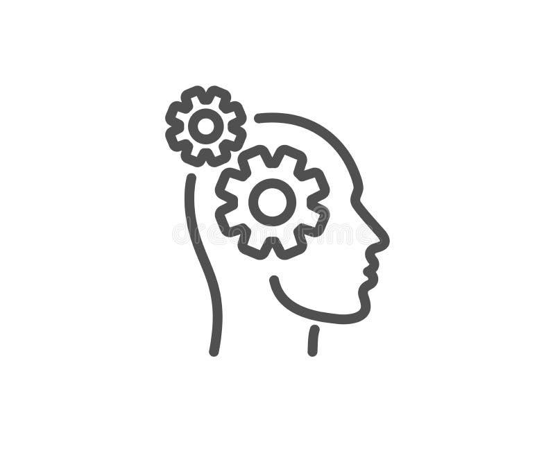 Os pensamentos alinham o ícone Sinal dos trabalhos de equipa Valor do n?cleo Vetor ilustração do vetor