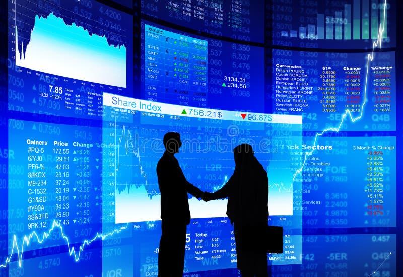 Os peritos concordam o lançamento da bolsa de valores bem sucedido imagens de stock royalty free