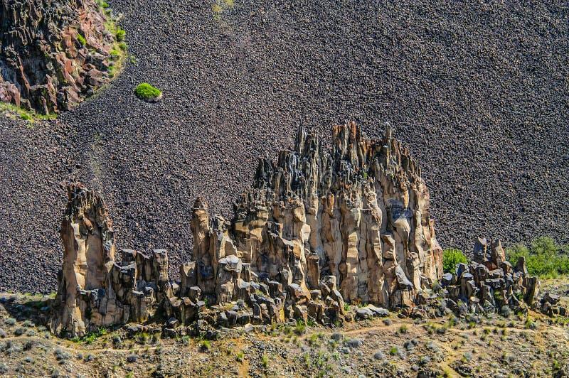 Os pináculos da rocha em Palouse caem, Washington imagem de stock royalty free