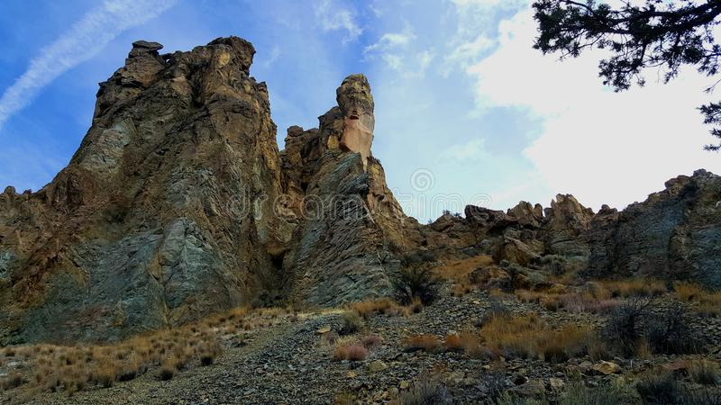 Os pináculos de Smith Rock imagens de stock