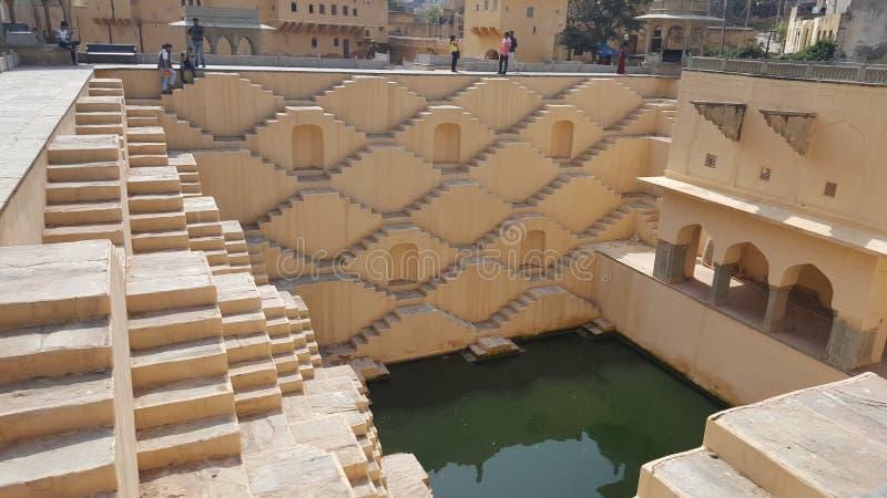 Os poços da Índia são incríveis clássicos de engenharia, artísticos também! foto de stock royalty free
