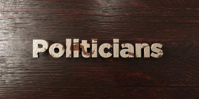 Os políticos - título de madeira sujo no bordo - 3D renderam a imagem conservada em estoque livre dos direitos ilustração do vetor